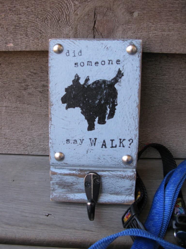 Keep your dog leash handy with this super fun dog leash holder I have on my etsy shop!