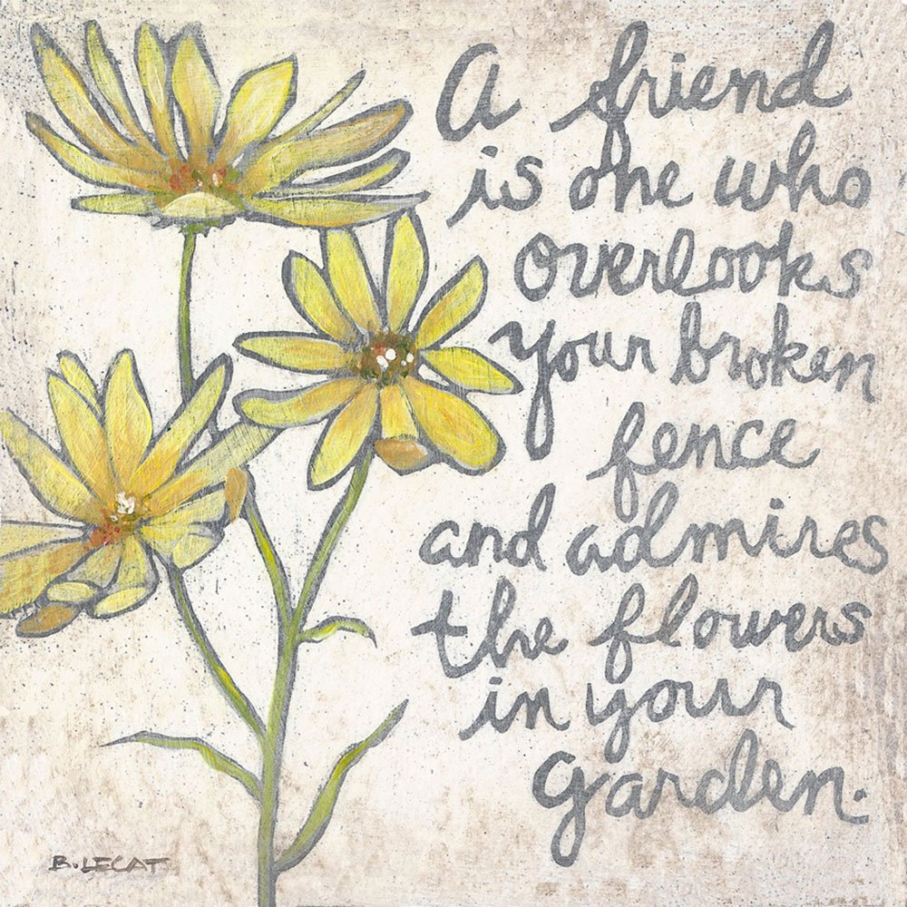 Yellow flowers friendship quote artwork prints home decor gift yellow flowers friendship quote mightylinksfo Gallery