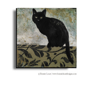Black Cat Decorative Art Print