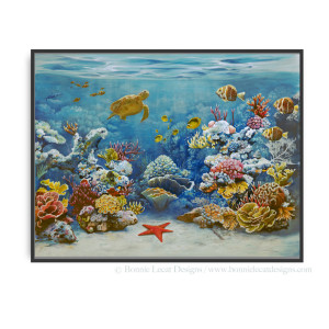 Coral Reef Gallery Wrapped Giclee print
