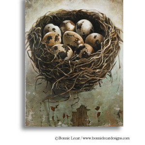 Large nest art print by Bonnie Lecat