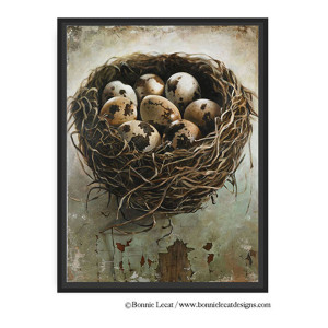 Bird Nest Art Print by Bonnie Lecat