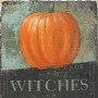 """Pumpkin Witches"" fine art print on wood panel"