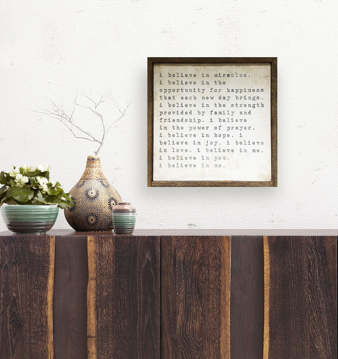 believe-sign-with-succulents | Artwork, Prints, Home Decor, Gift Ideas