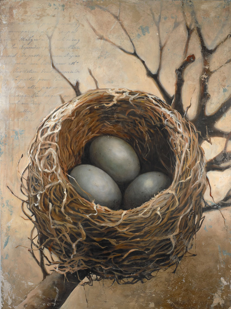 Nest painting by Bonnie Lecat