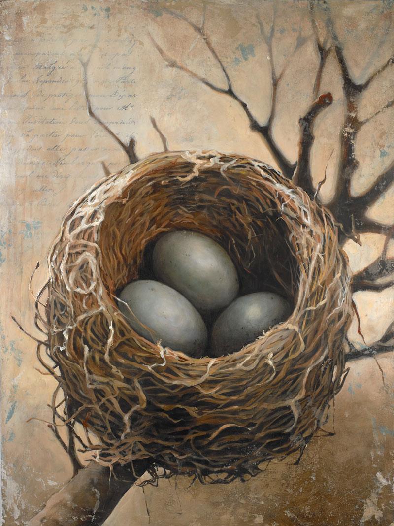 Nest painting by Bonnie Lecat