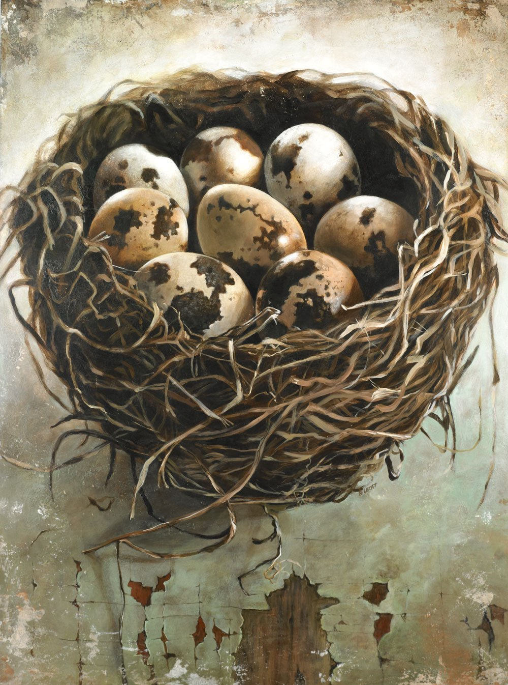 Tangled Nest painting by Bonnie Lecat