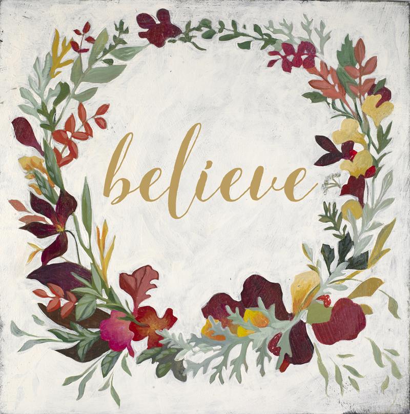 Herbarium Believe Wreath