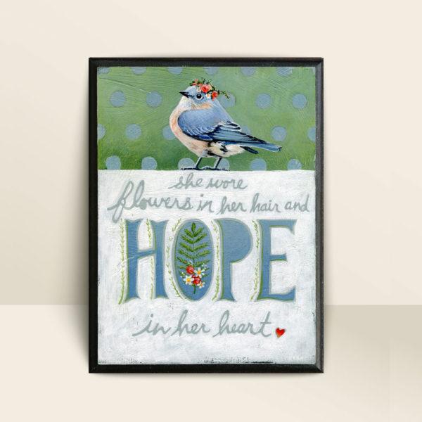 hope-bluebird-mounted-print-bonnie-lecat