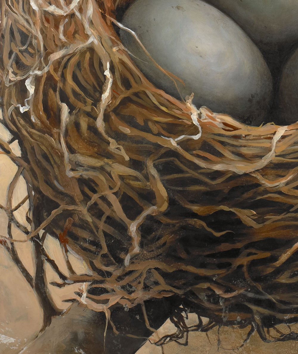 Nest painting detail.