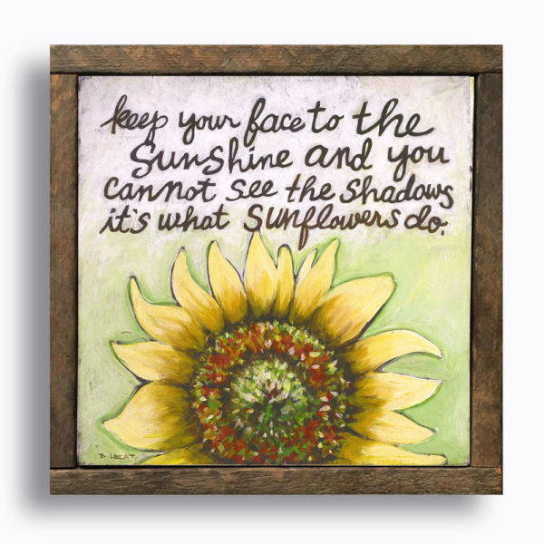 sunflowers-inspirational-art-framed