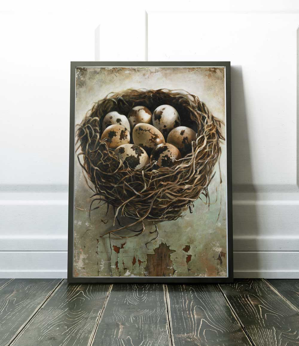Tangled Nest Art Large Canvas Print Of A Bird S Nest