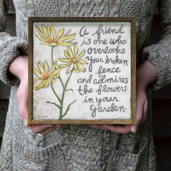 yellow-flowers-friendship-quote
