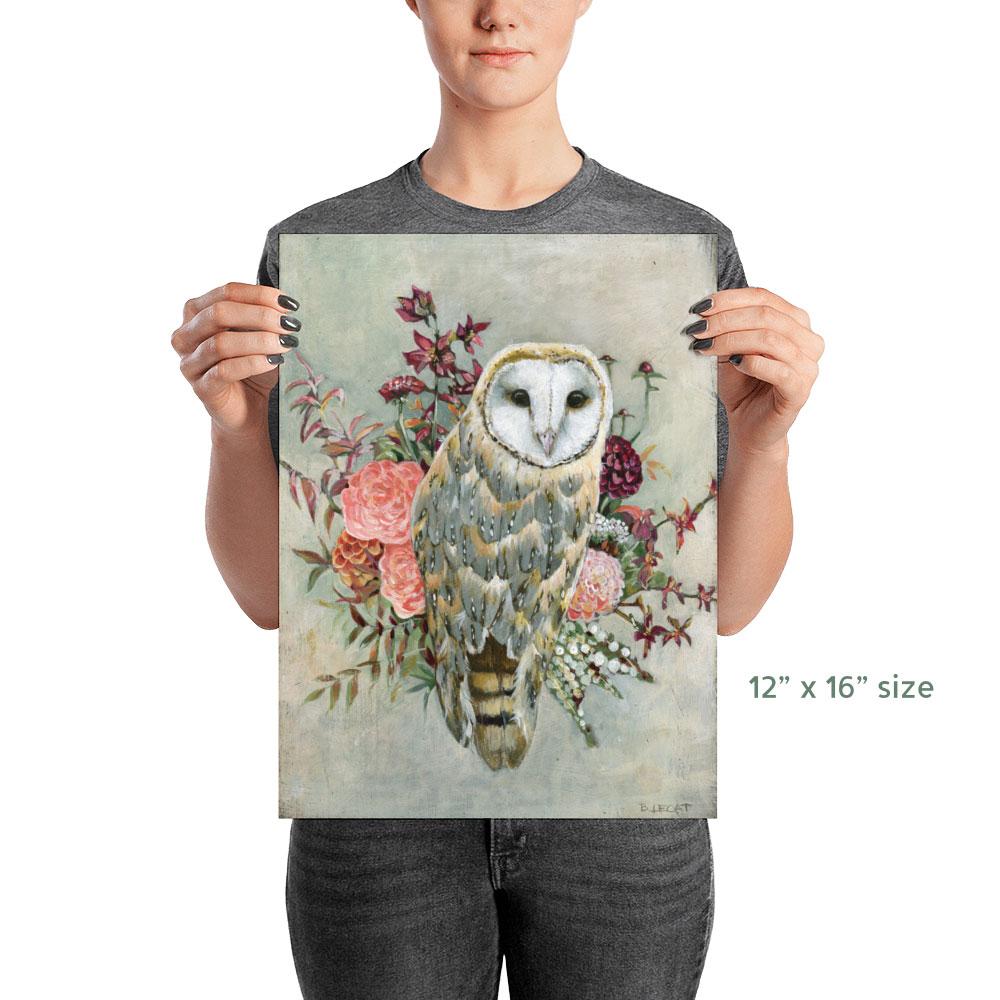 owl poster print wall art by bonnie lecat www
