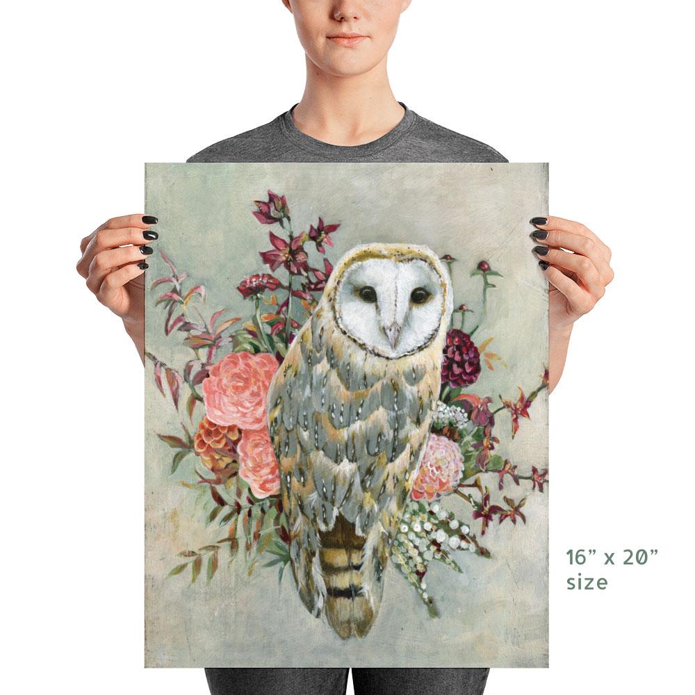 Barn Owl Poster Print 16x20