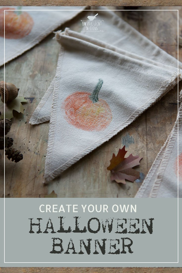 Make your own pumpkin banner with this cute halloween craft idea diy halloween pumpkin banner solutioingenieria Image collections