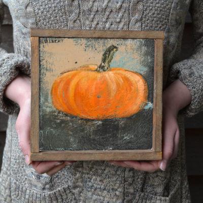 folk-art-pumpkin-framed-art