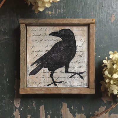 crow-silhouette-framed