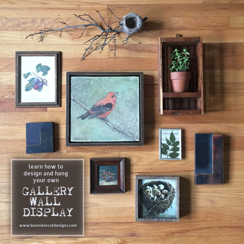 Learn how to design and hang your own gallery wall display
