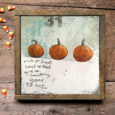 Halloween trick or treat wall art