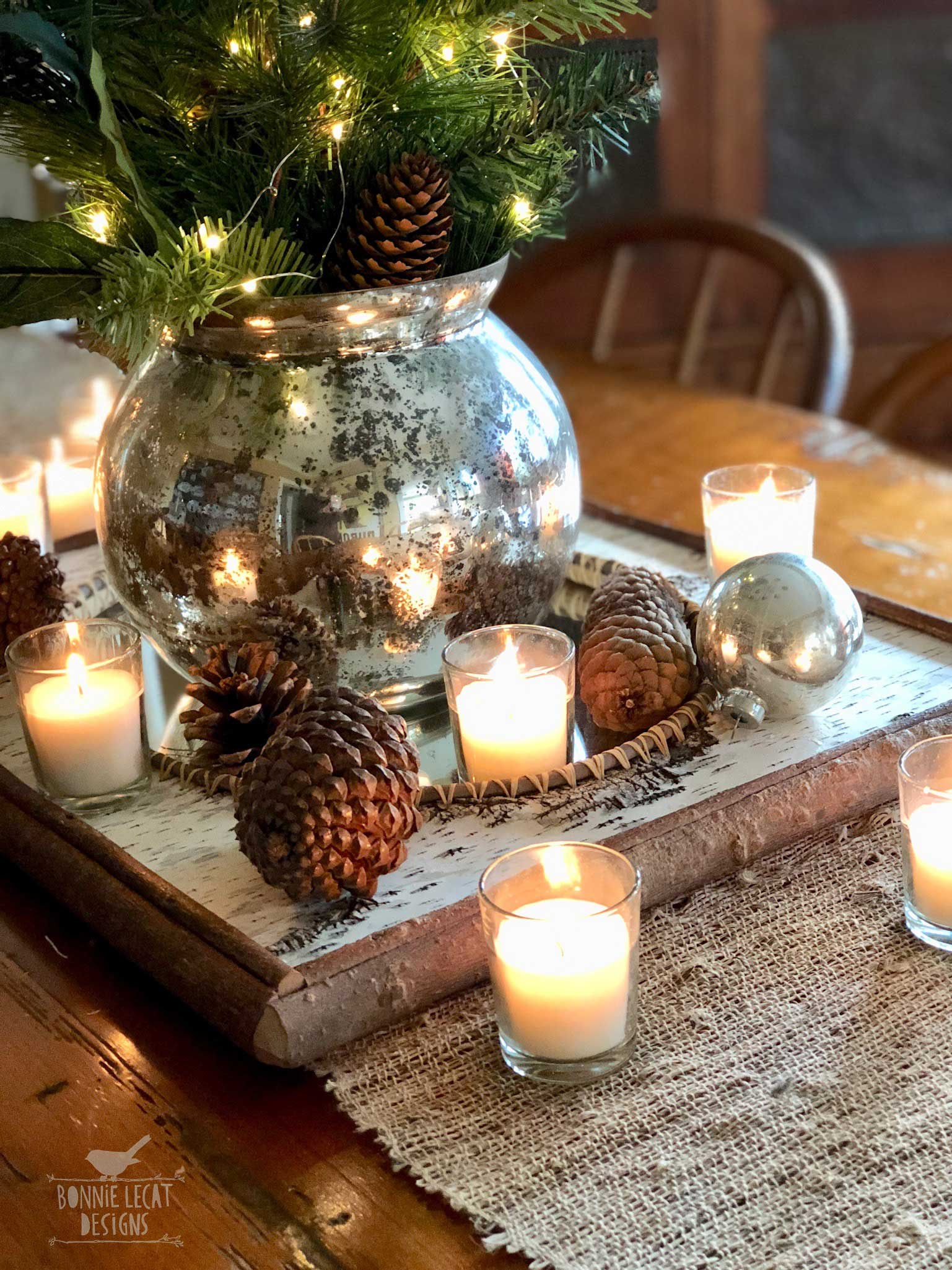 farmhouse Christmas tables cape idea