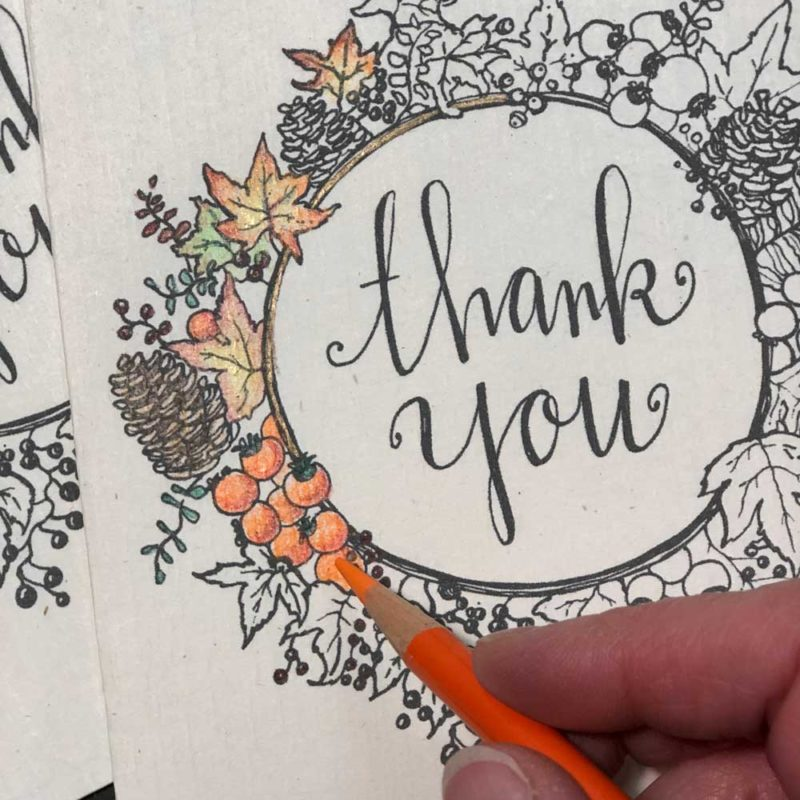 say thank you with a handwritten card