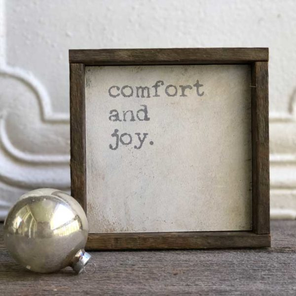 comfort-and-joy-wood-sign