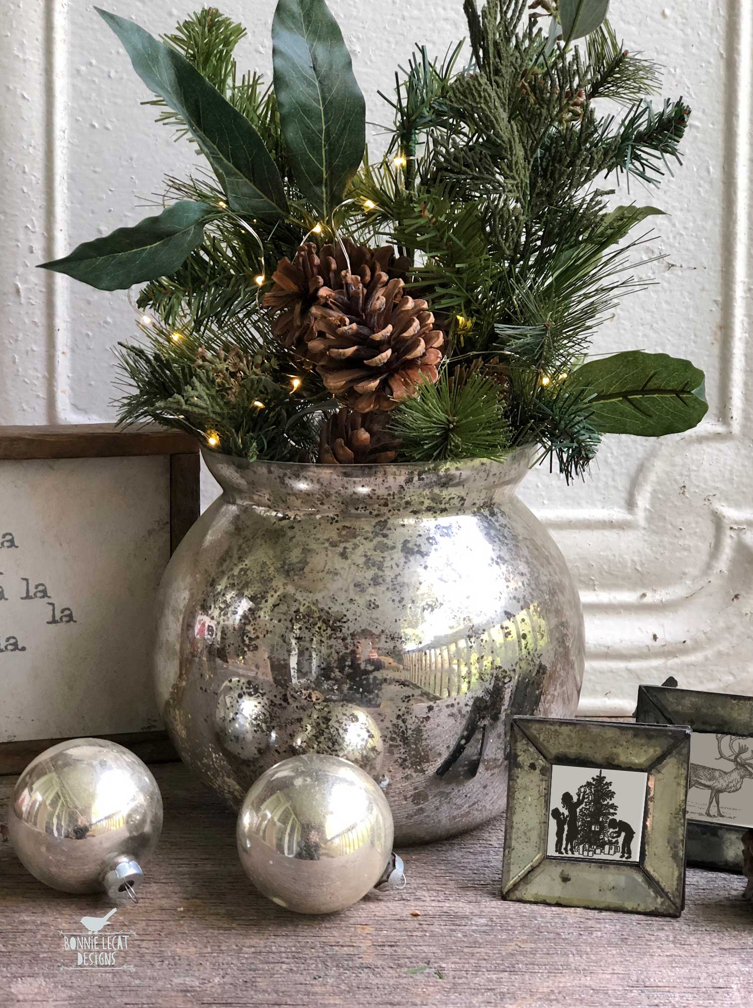 Farmhouse Christmas decorating