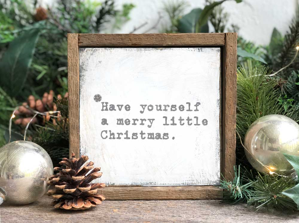 Merry Little Christmas Wood Wall Sign Available In Two Sizes