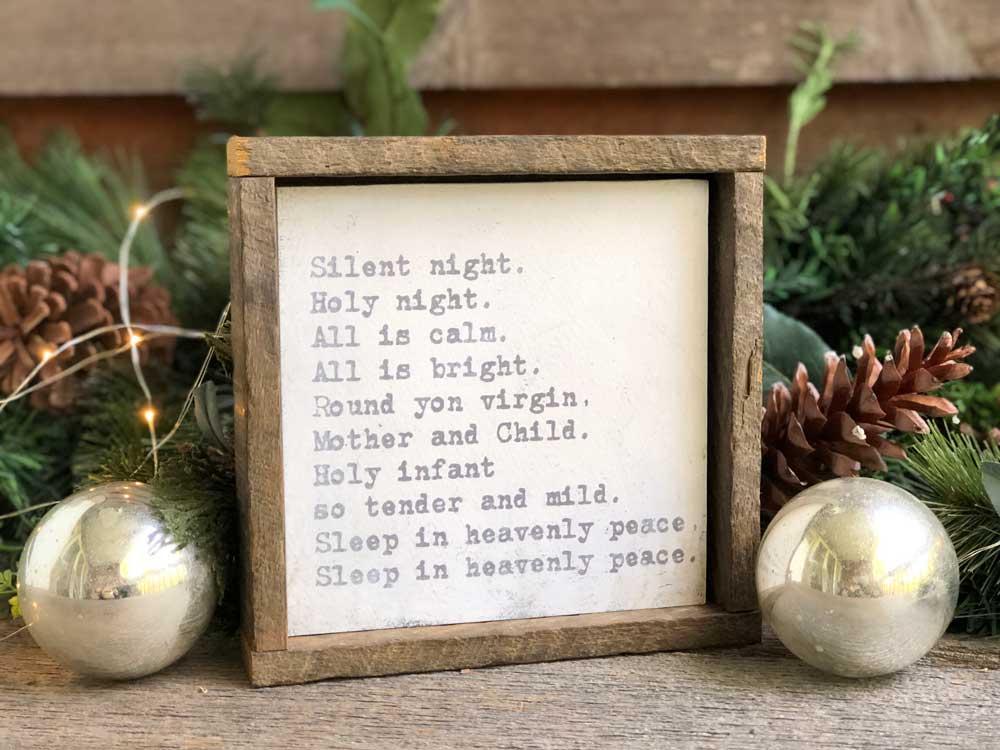 Christmas Wall Decor - Silent Night