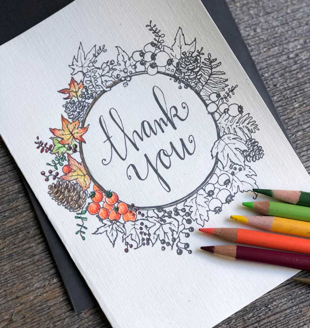 printable thank you card