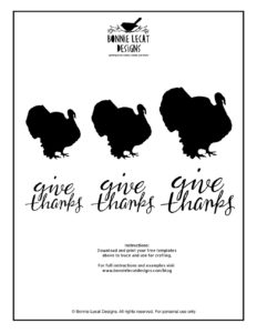 FREE turkey silhouette printable