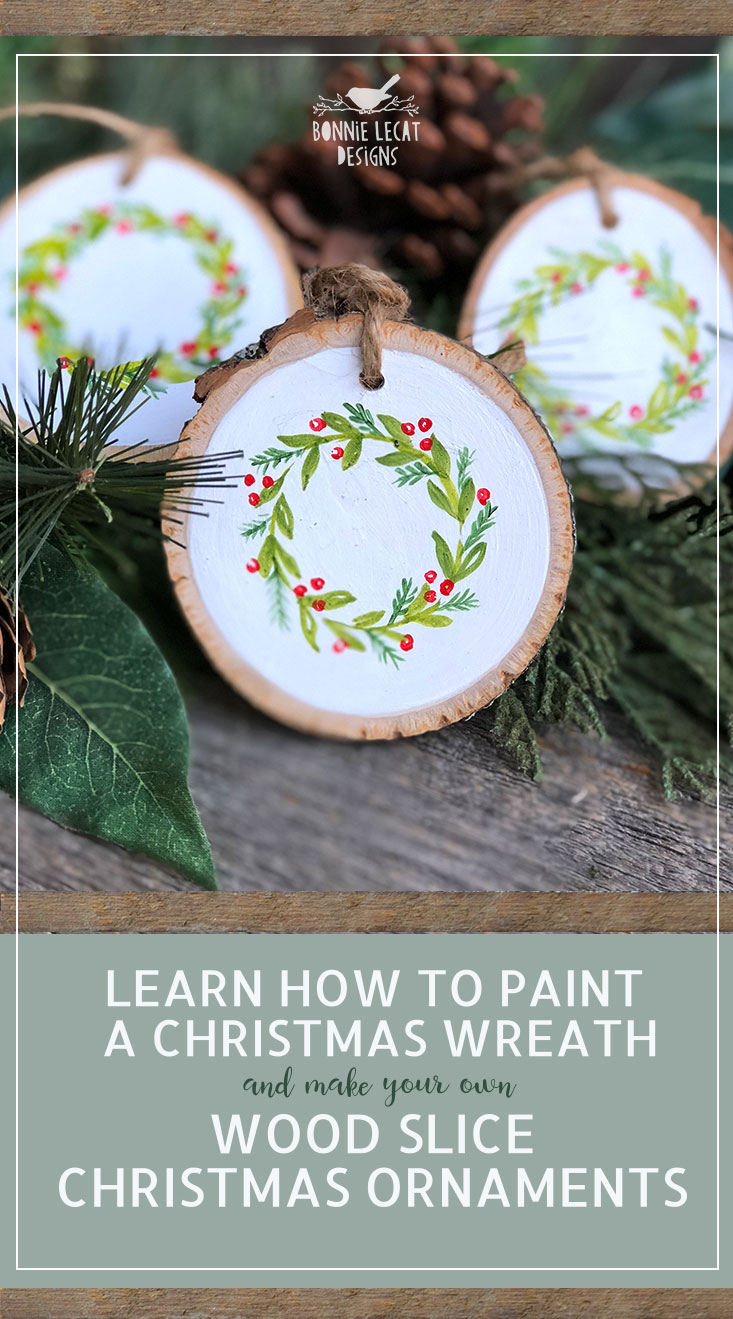 Free Printable Christmas Ornaments.Learn How To Paint Your Own Hand Painted Christmas Wreath