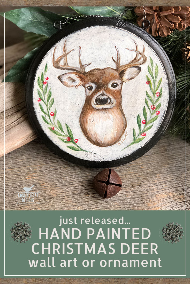 Christmas Deer Wall Art
