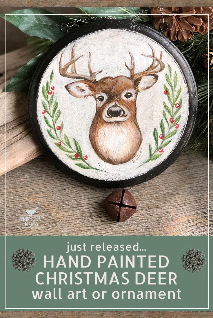 Christmas Deer Wall Art