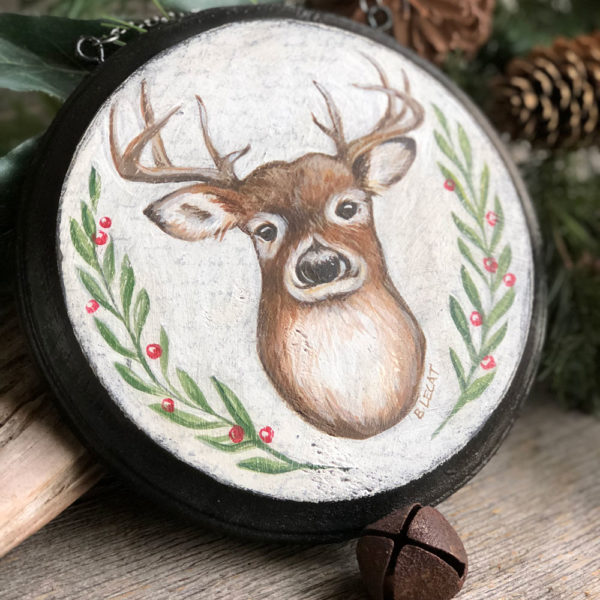 Christmas-deer-wall-art
