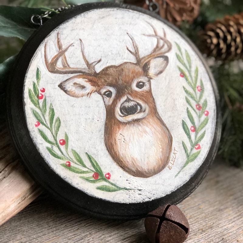 Deer Christmas decor