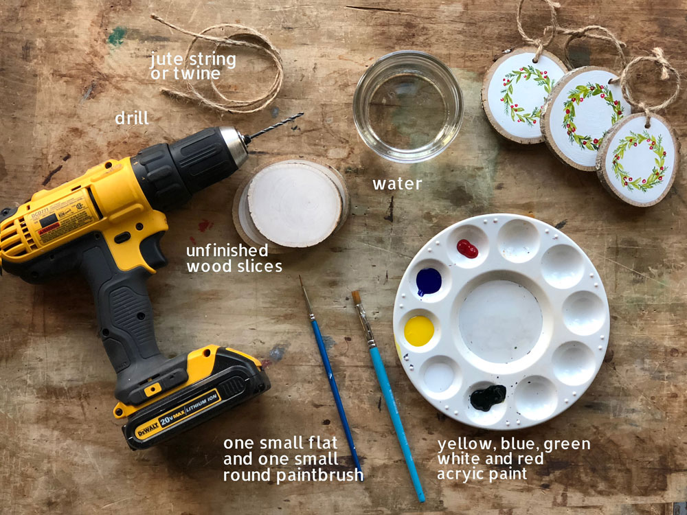 Learn How To Paint Your Own Hand Painted Christmas Wreath Ornament