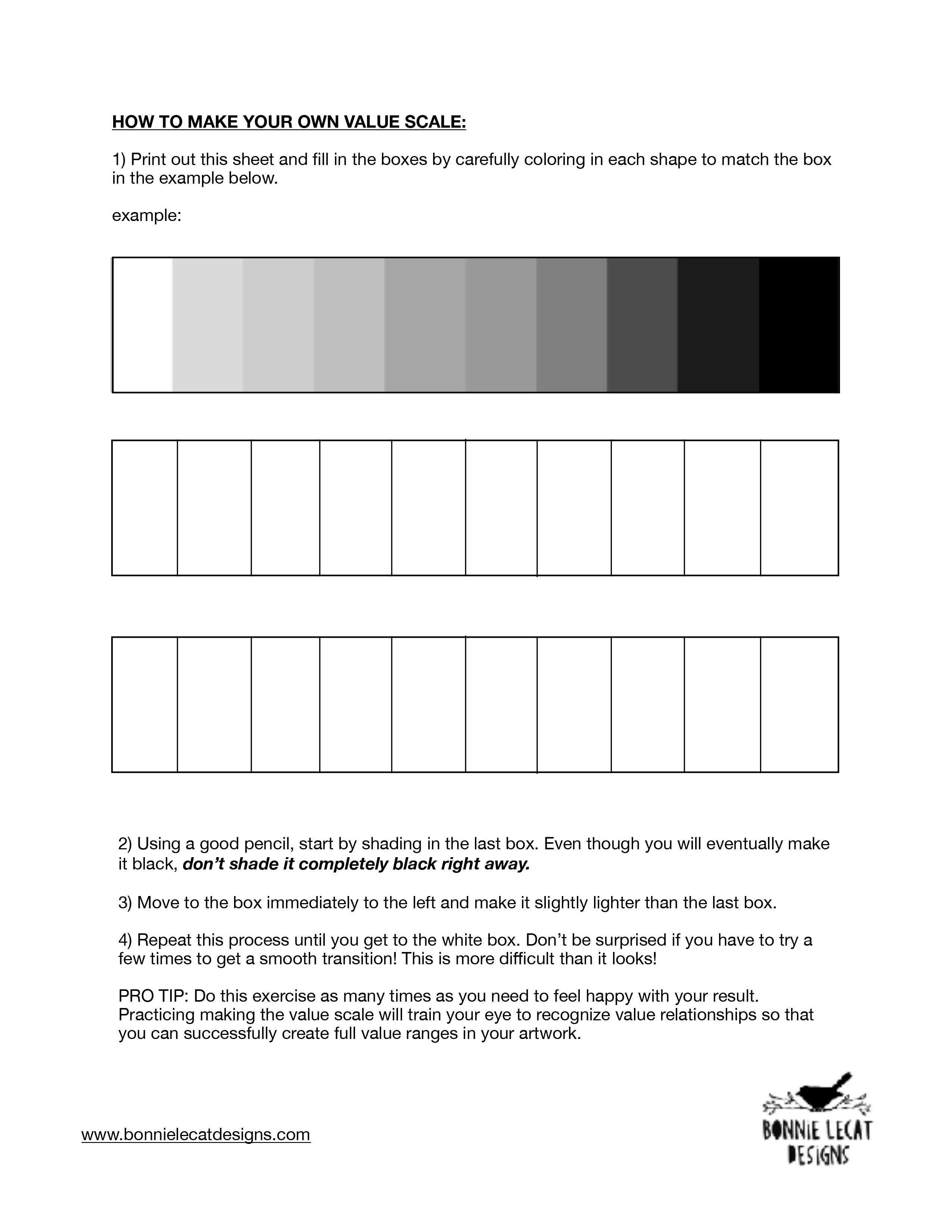 value scale worksheet   Illustration, Art Prints and Gifts ...