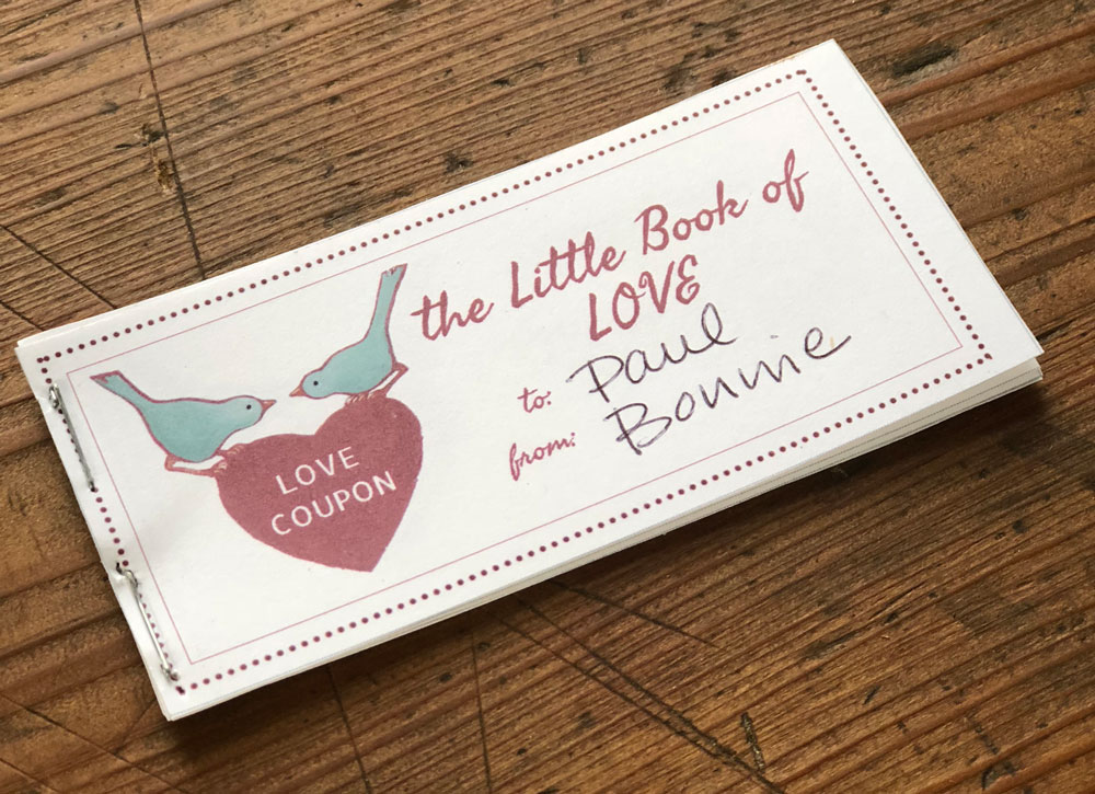 Printable love coupon books make a great last minute gift idea!