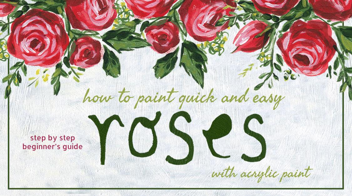 How to paint quick and easy roses with acrylic paint