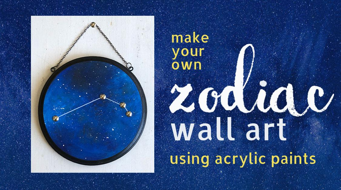 Paint this Zodiac Wall Art