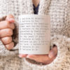 Inspirational Coffee Mug