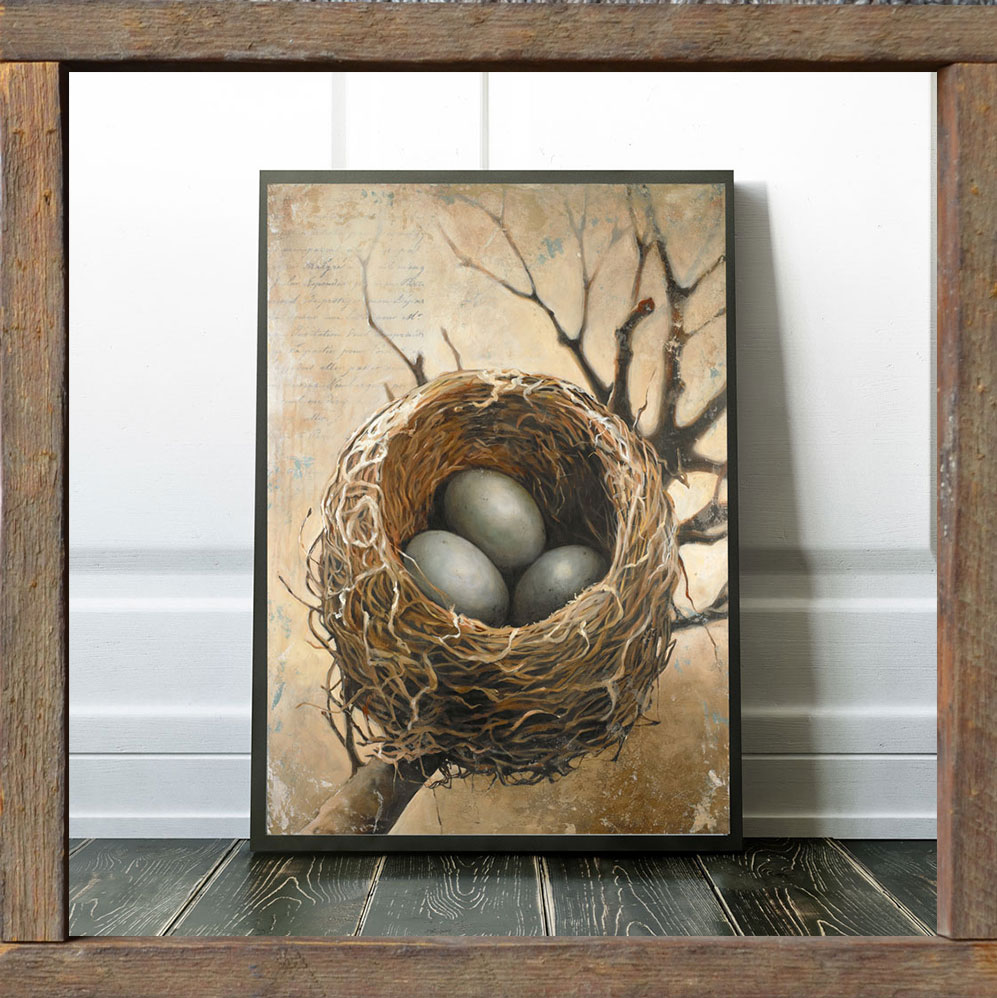 framed-bird-nest-print