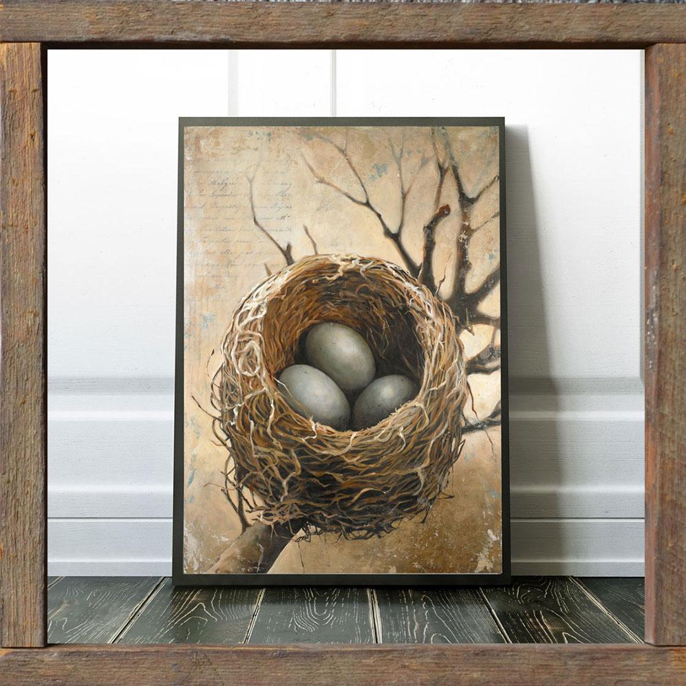 framed-bird-nest-print