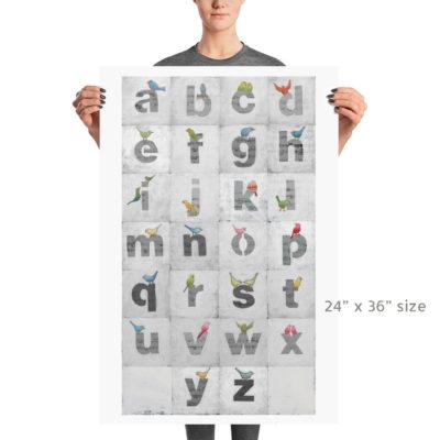 alphabet bird prints