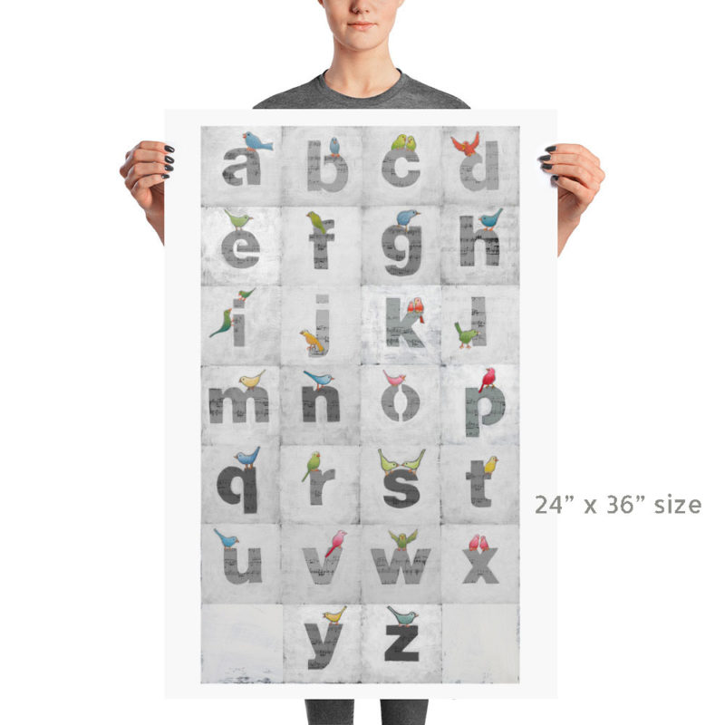 This sweet alphabet letters print looks great in your little one's nursery.