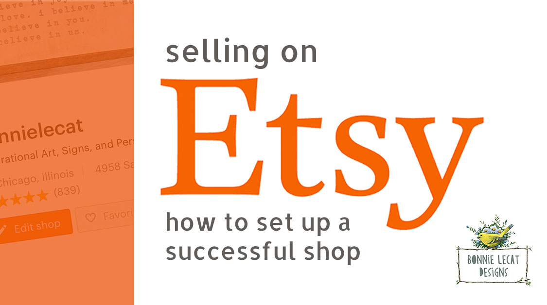 selling on etsy how to set up a successful online shop. Black Bedroom Furniture Sets. Home Design Ideas