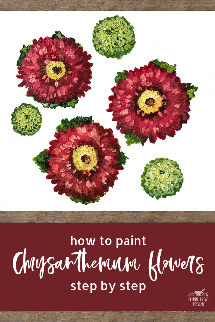 How to Paint Fall Mums