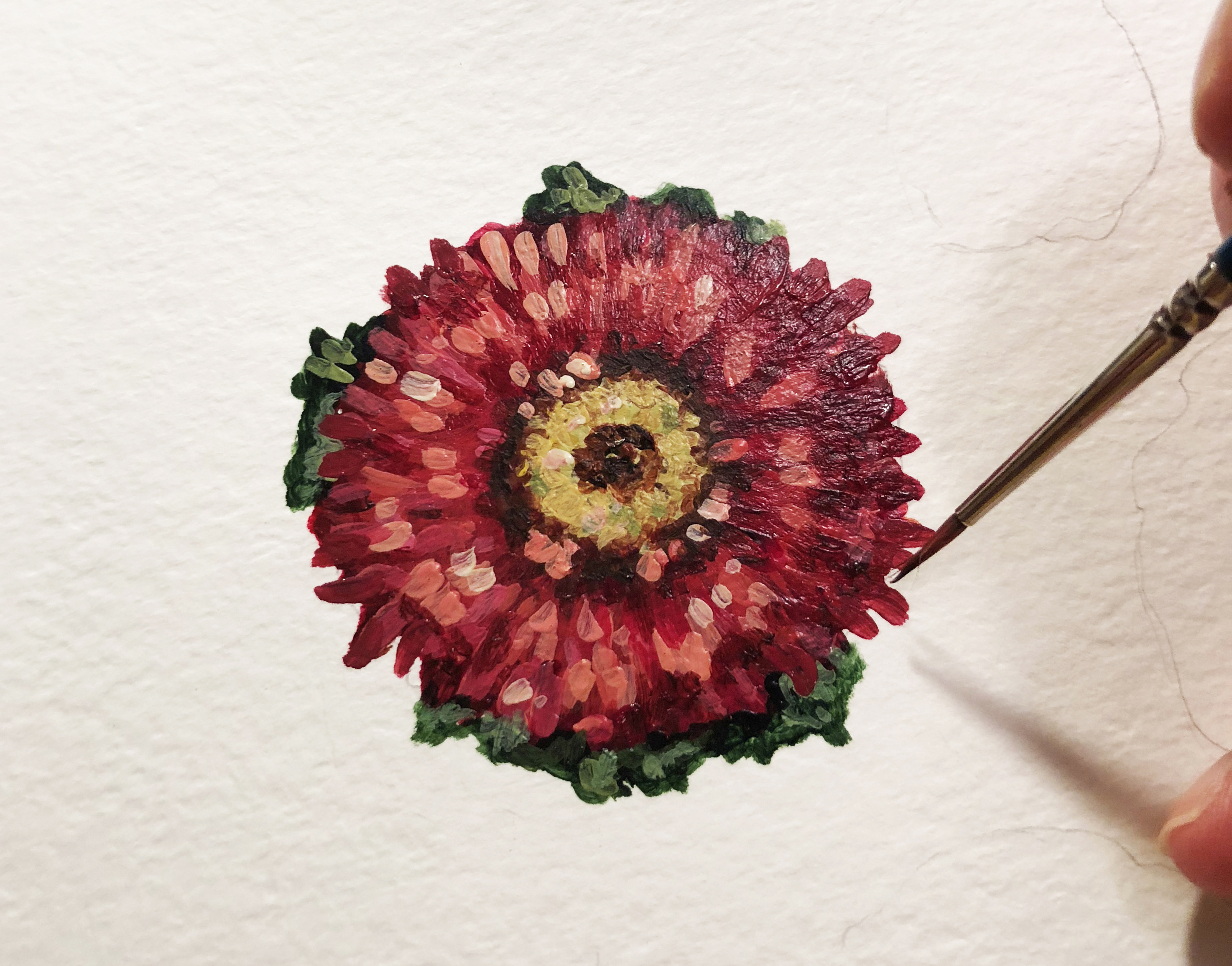 how to paint mums